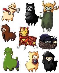 Avengers Alpacas by Skittlez23