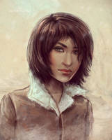 Snow girl by VeraVoyna
