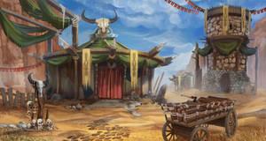 Orc village by VeraVoyna