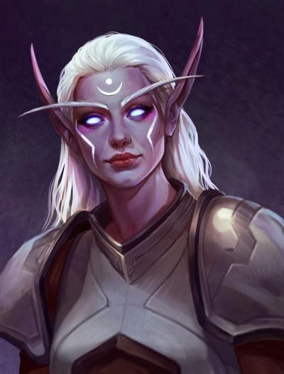 NightElf (Commission) by VeraVoyna