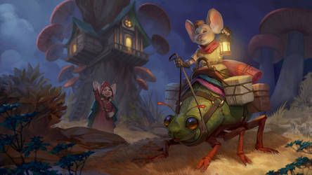 The mouse goes on a journey