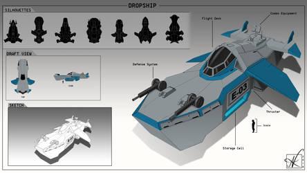 Dropship E-03 by Art-of-Akrosh