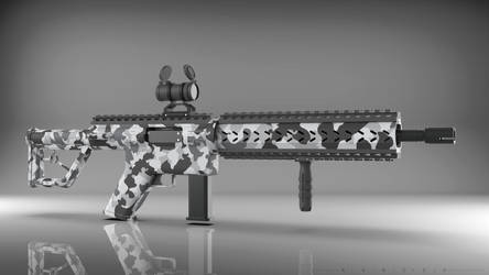 Modern sporting rifle ver.2 (snow camouflage) by Art-of-Akrosh