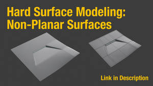 Hard-Surface Modeling: Non-Planar Surfaces