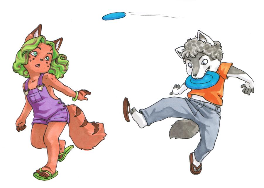 Gift Art: Frisbee by dire-musaera