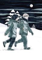 Vellians: Snowy, Snowy Night by dire-musaera