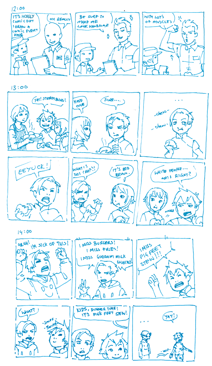 Hourly Comics Day: 12 to 14 by dire-musaera