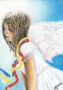 Hope for Haiti - ACEO by Carol-Moore