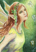 Forest Fae ACEO by Carol-Moore