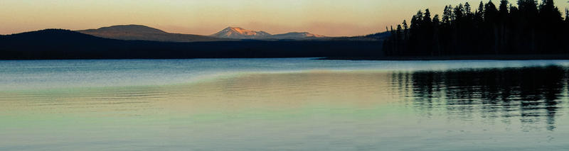 Evening Lakeside by Carol-Moore