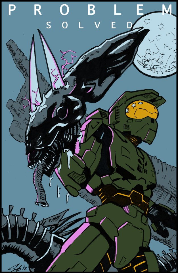 Halo vs. Alien by jmascia on DeviantArt