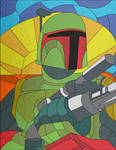 Boba Fett in Stained Glass