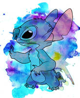 Stitch Watercolor by jmascia