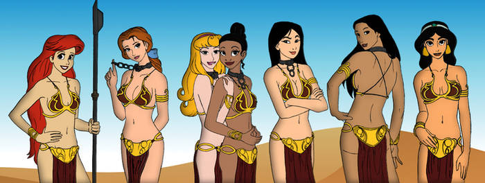 Disney Princesses Cosplaying Princess Leia
