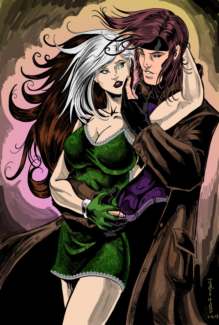 gambit and rogue kiss-#39