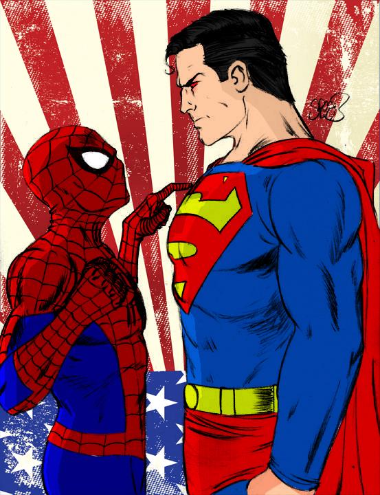 Spiderman vs Superman by jmascia on DeviantArt
