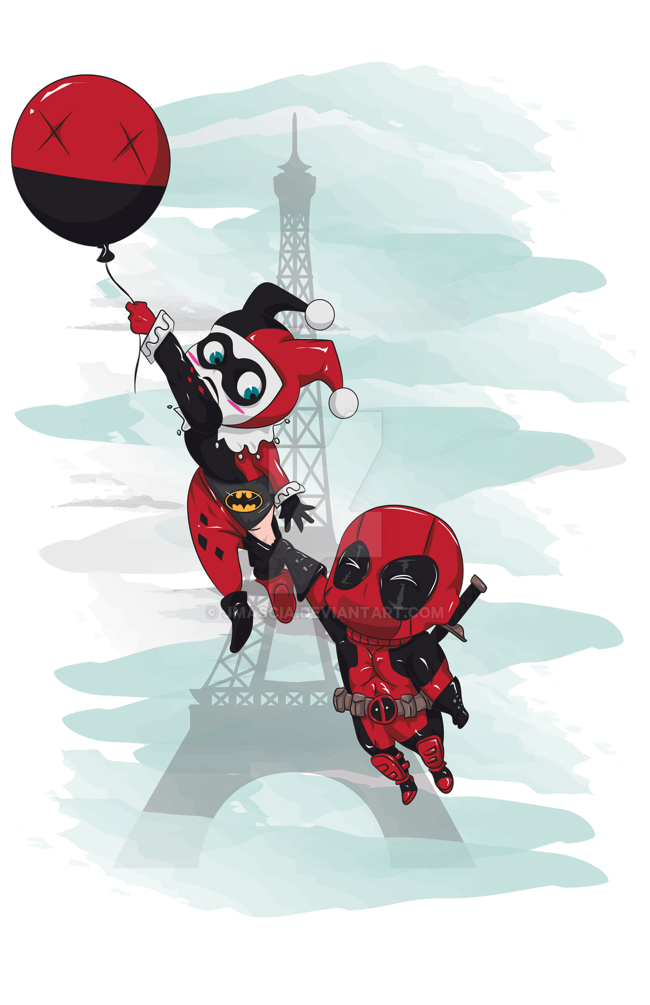 Deadpool And Harley Quinn Deadpool and Harley Qu...