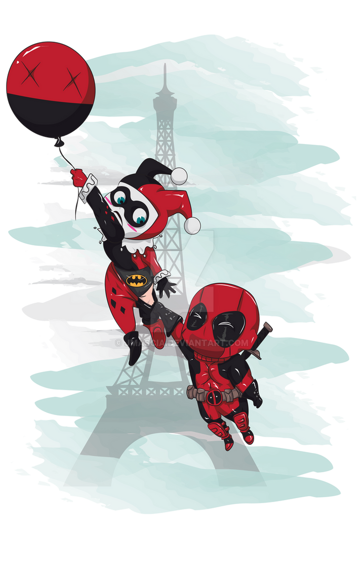 Deadpool And Harley Quinn Deadpool and Harley Qu...