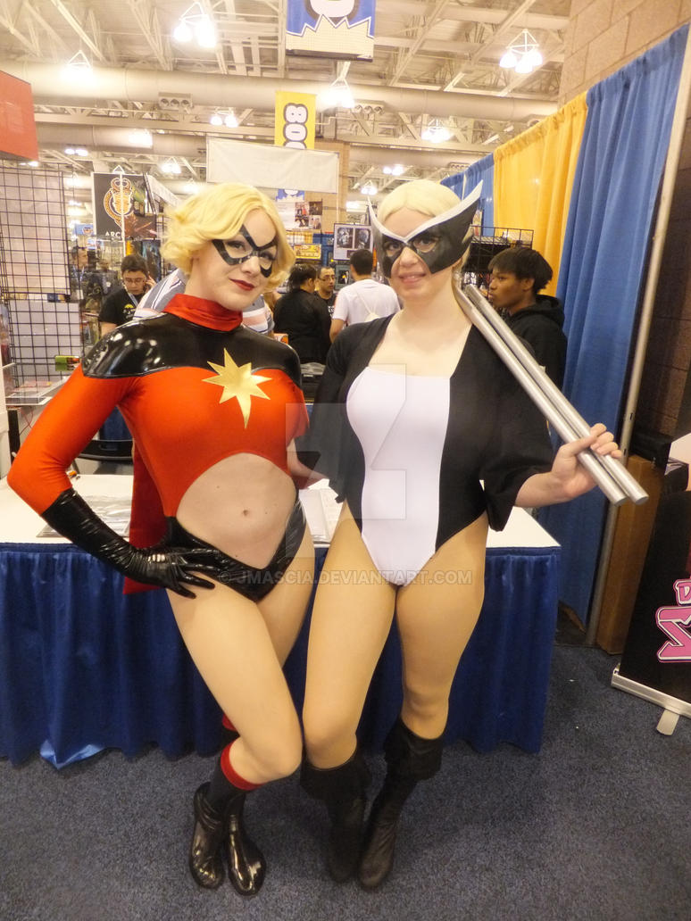 Captain Marvel and Mockingbird Cosplay by jmascia