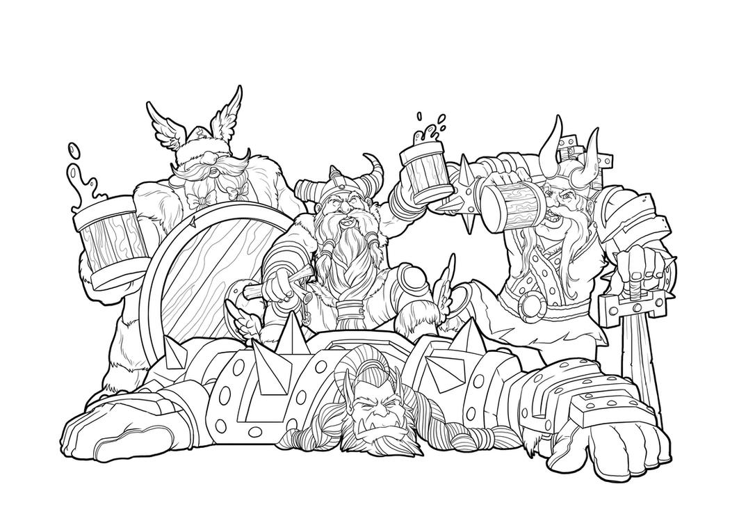 The Vikings Have Not Lost (Lineart) by jmascia