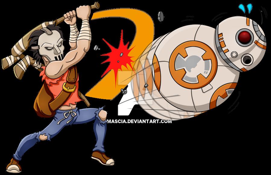 Casey Jones vs BB-8 by jmascia