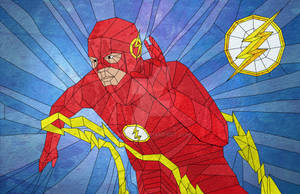 The Flash in Stained Glass