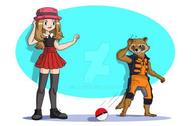 Serena and Rocket