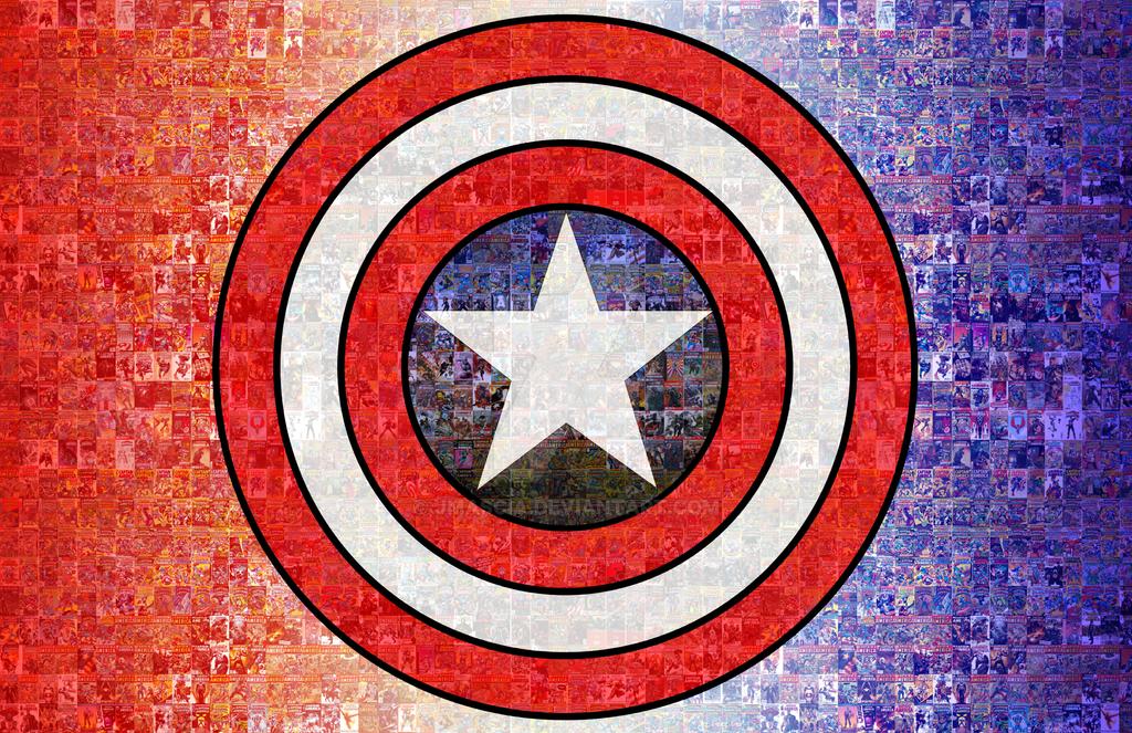 Captain America Photomosaic by jmascia