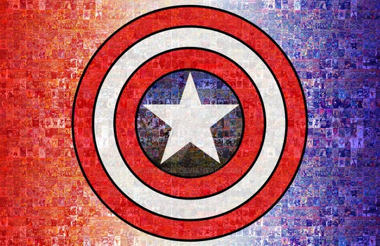 Captain America Photomosaic