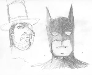 Friday Sketches: Batman and the penguin