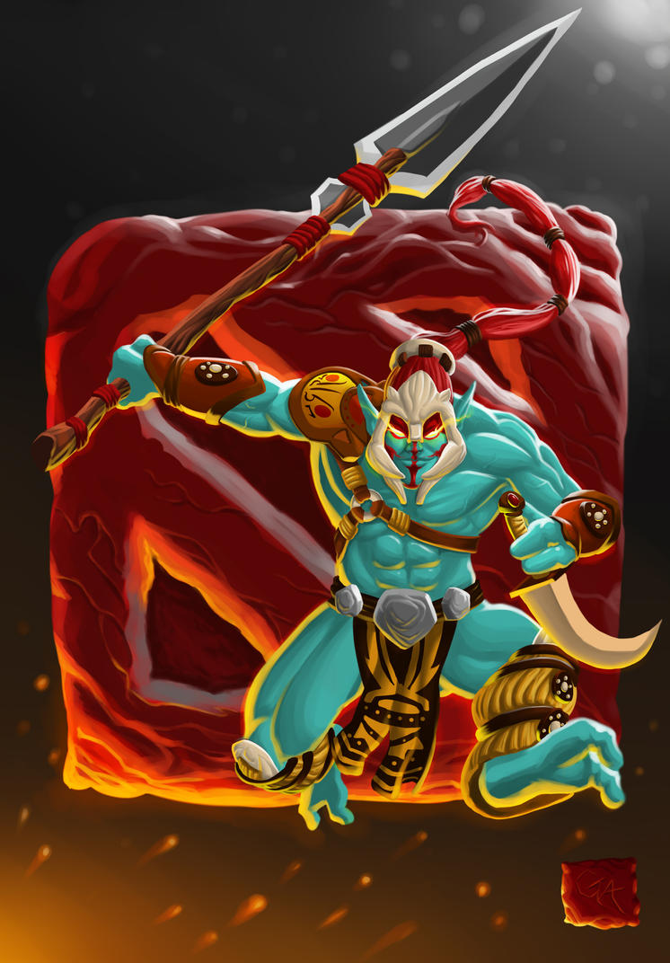 dota 2 huskar by fiercechicken on deviantart