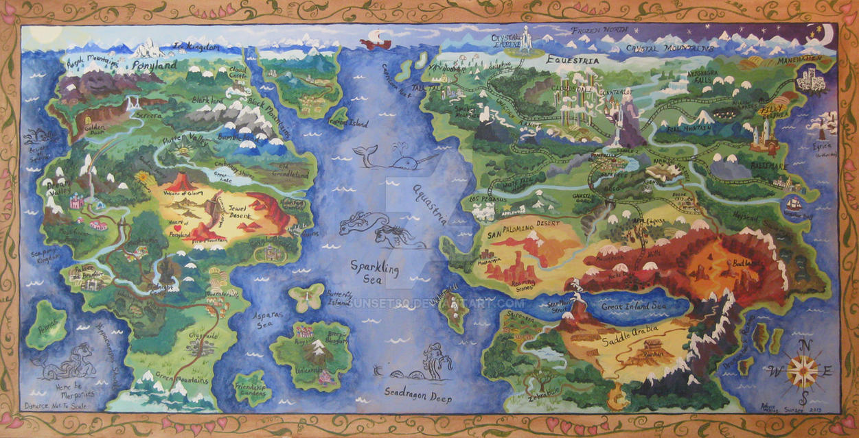 My Little Pony Map Map of the Known Pony World by Sunset80 on DeviantArt