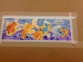 Goldfish in Watercolor by Jillybean345
