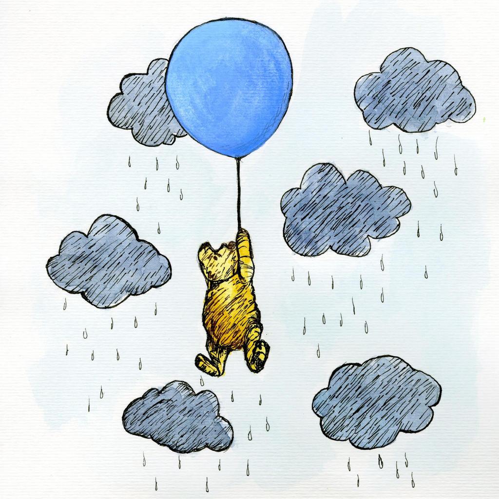 The Little Black Rain Cloud: Winnie The Pooh By Jillybean345 On DeviantArt