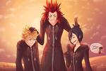 Kingdom Hearts - Roxas, Axel, Xion