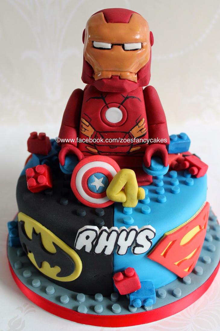 Lego Superhero Cake By Zoesfancycakes On Deviantart