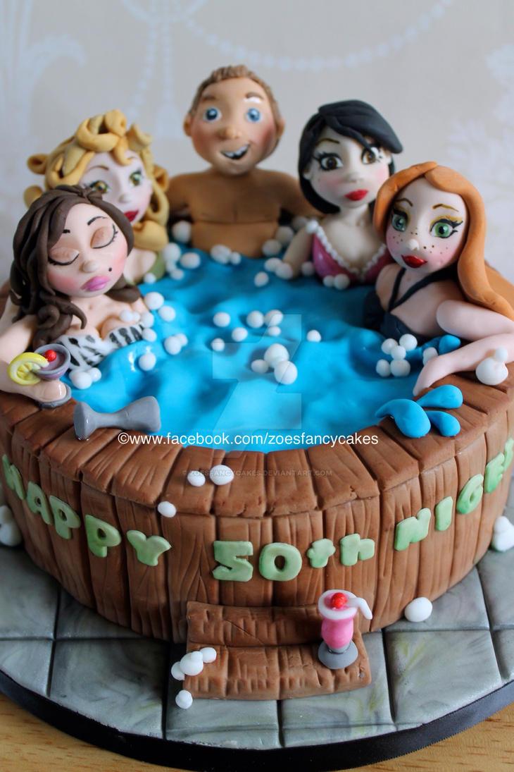 Hot Tub Birthday Cake By Zoesfancycakes On Deviantart