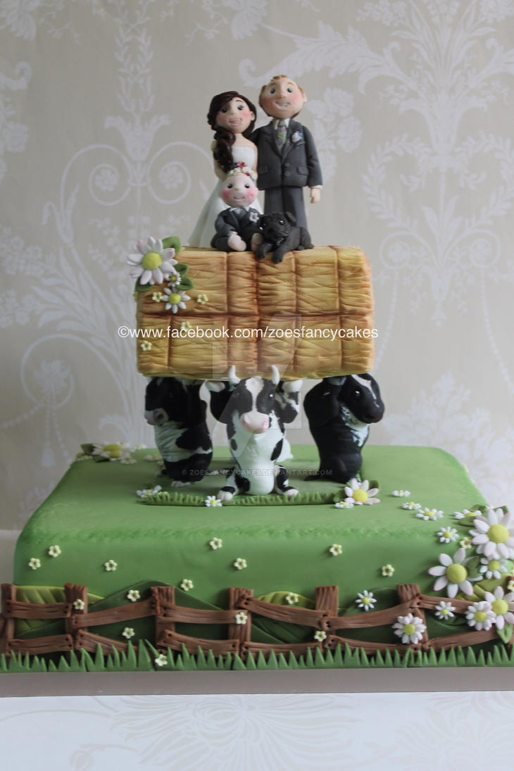 Farmer Themed Wedding Cake By Zoesfancycakes On Deviantart