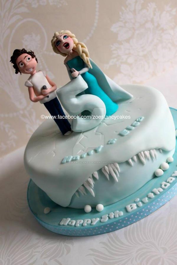 Elsa birthday cake by zoesfancycakes on DeviantArt