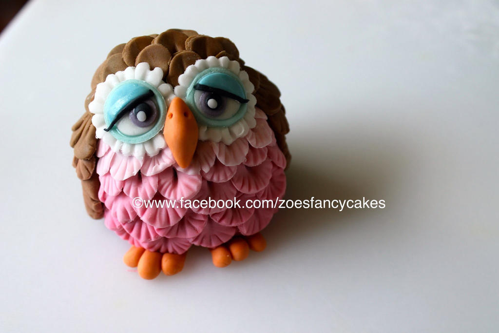 How To Make A D Fondant Owl Cake Topper
