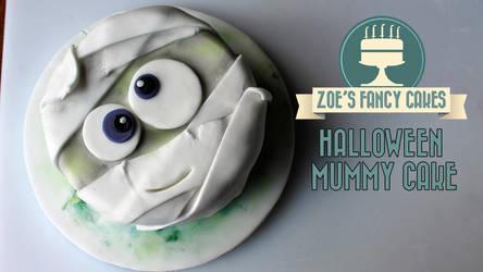 Halloween Mummy Cake video tutorial