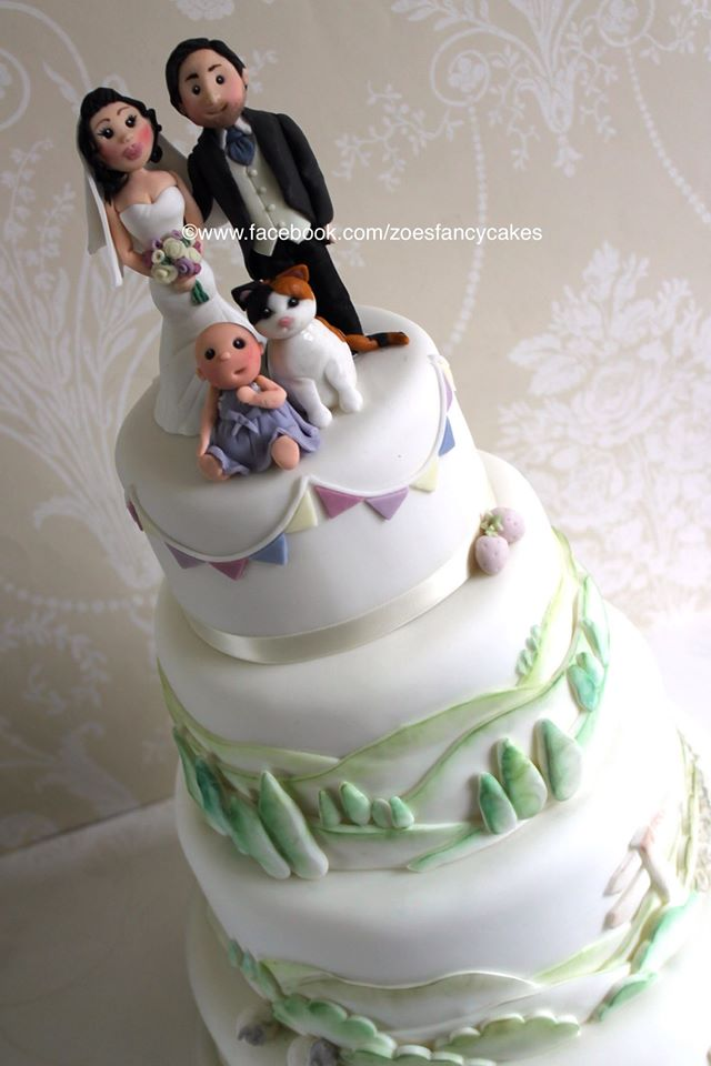Wedding couple cake by zoesfancycakes on DeviantArt