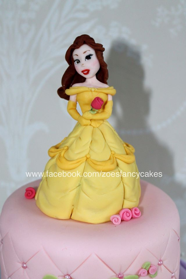 Disney princess Bell cake topper by zoesfancycakes on DeviantArt
