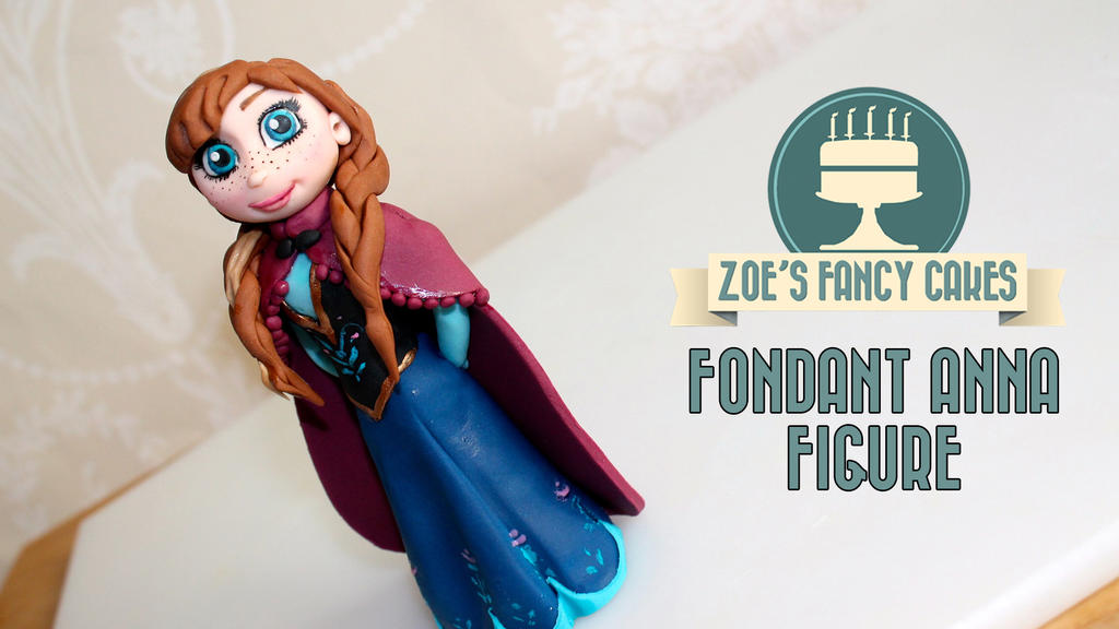 Fondant Anna From Frozen Disney Anna cake tutorial by zoesfancycakes