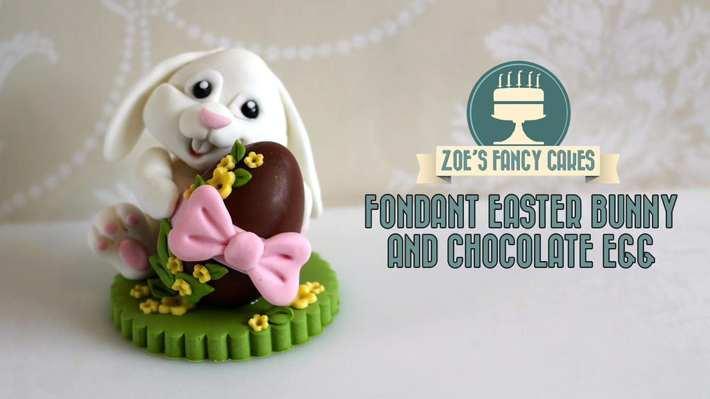 Cake Decorated With Easter Eggs : Fondant Easter Bunny Chocolate Egg Cake Decorating by ...