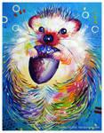 Hedgehog And Its Acorn