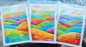 Holiday Cards - Colorful Hills