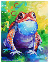 Blue Toad by TooMuchColor