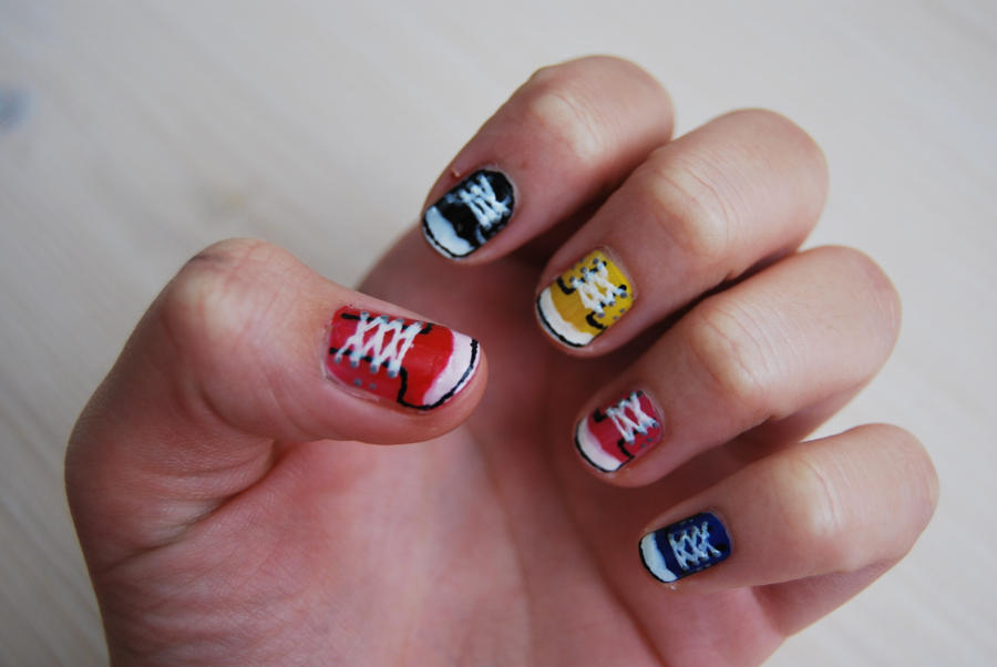Converse Nails In Hq By Martinrivass On Deviantart