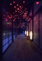 JapaneseInterior at Night by thePingdelf